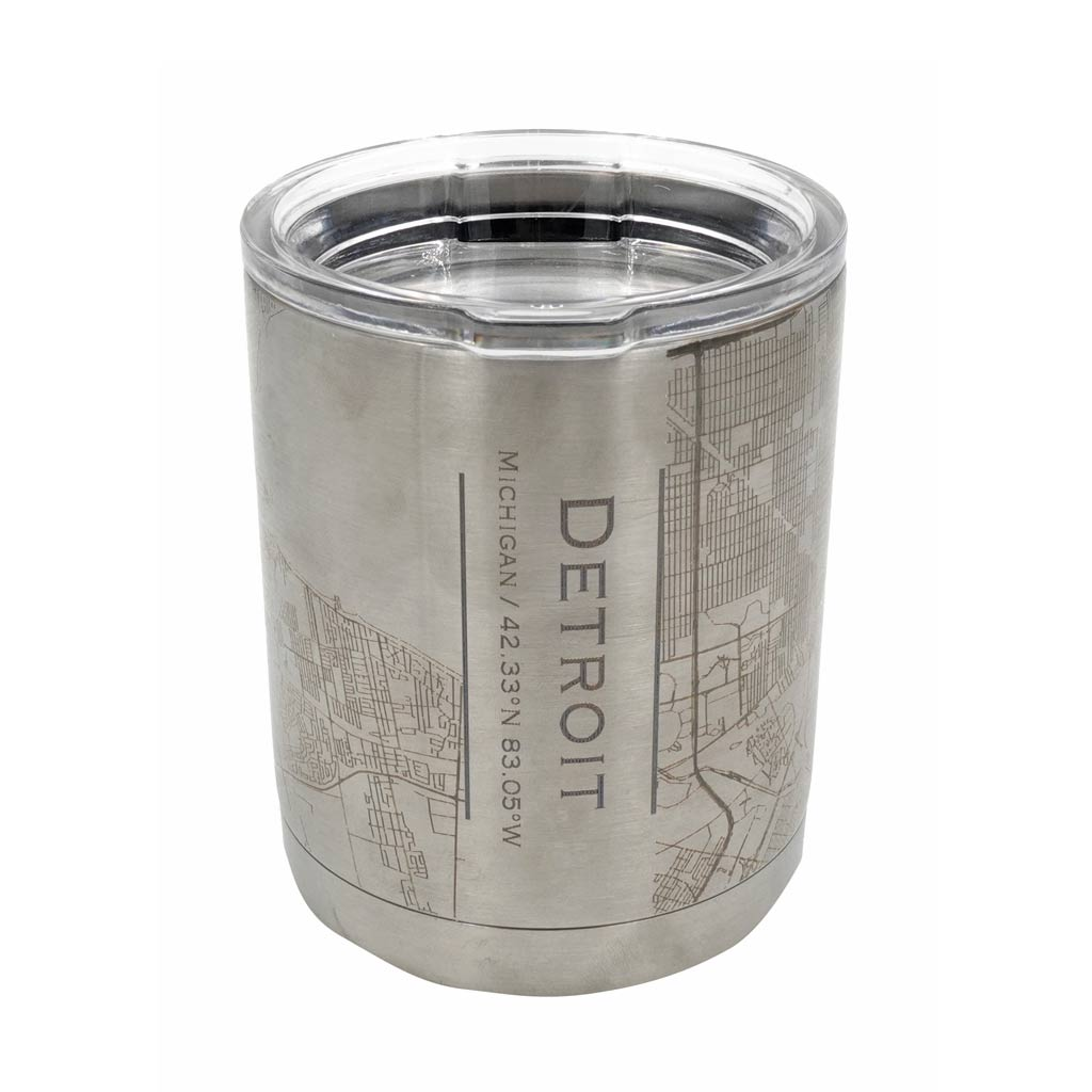 Detroit City Map Insulated Cup - City Bird