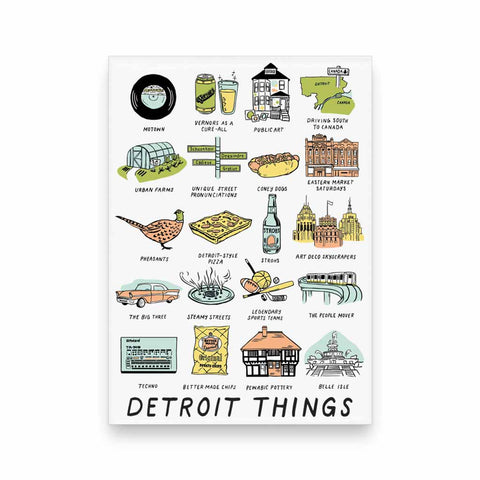 Detroit Things Magnet - City Bird