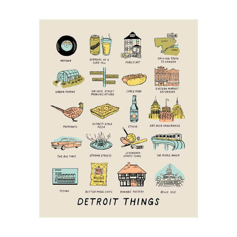 Detroit Things Silkscreened Print