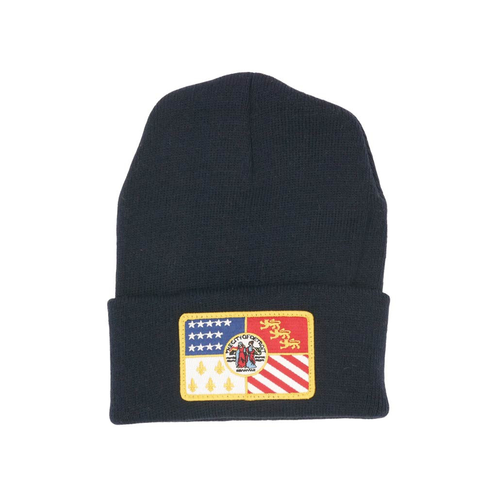 Detroit Flag Patch Knit Cap - City Bird