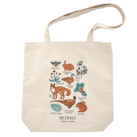 Detroit Flora And Fauna Tote - City Bird