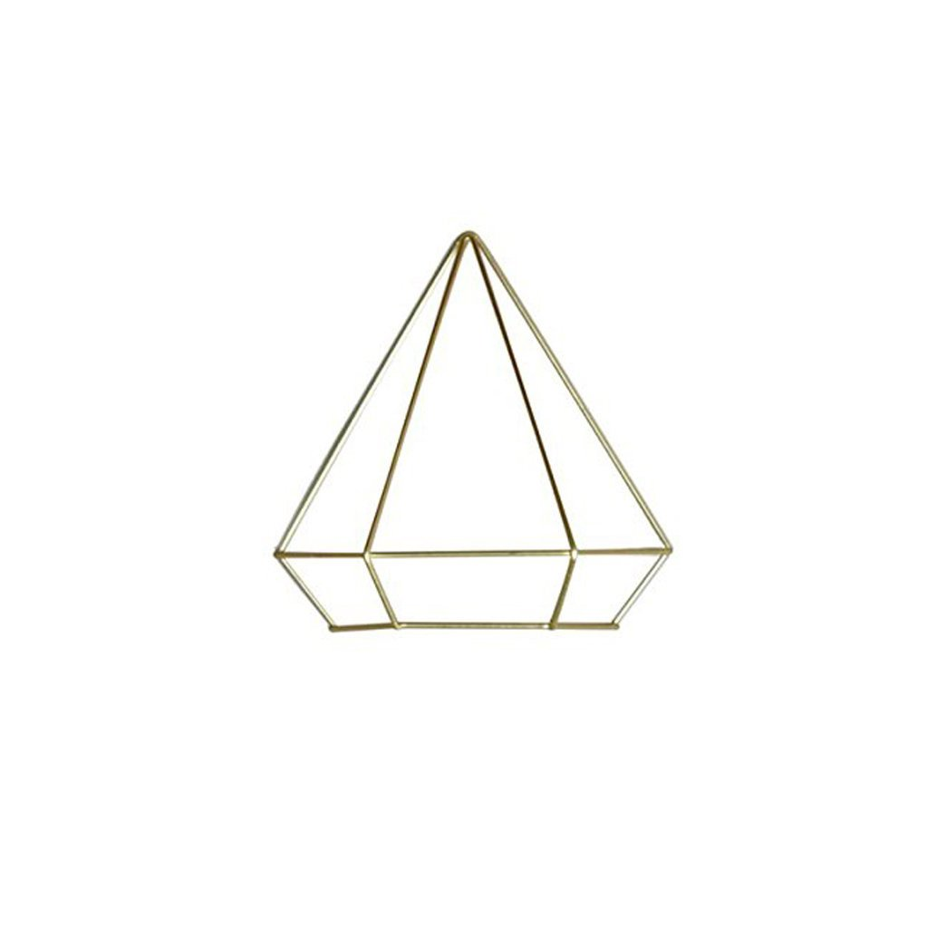 Brass Prism Wall Ornament - City Bird