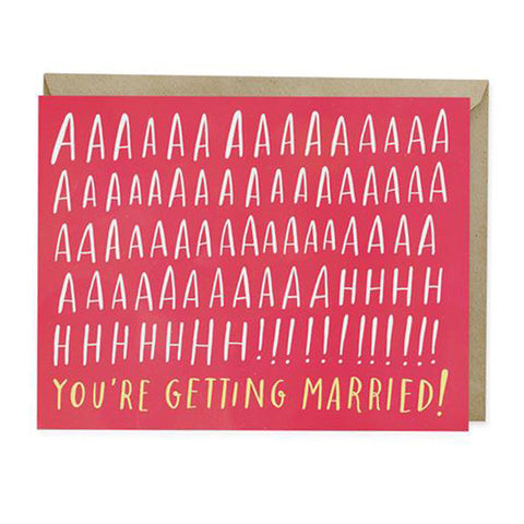 Aah! Married Wedding Card - City Bird