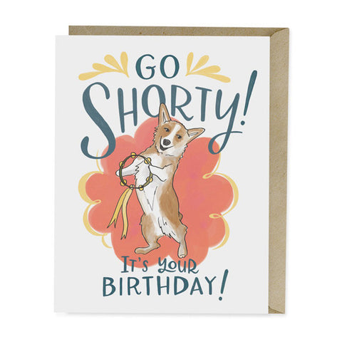 Go Shorty Birthday Card - City Bird