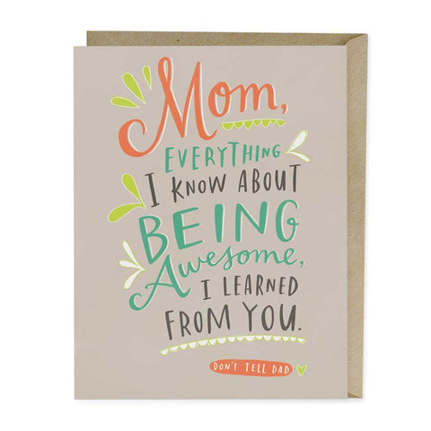 Awesome Mom - Mother's Day Card - City Bird