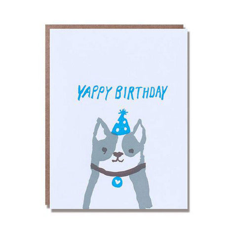 Yappy Birthday Letterpress Card - City Bird