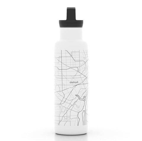 Detroit Map Insulated Hydration Bottle