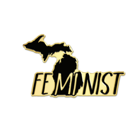 Michigan FeMInist Enamel Pin