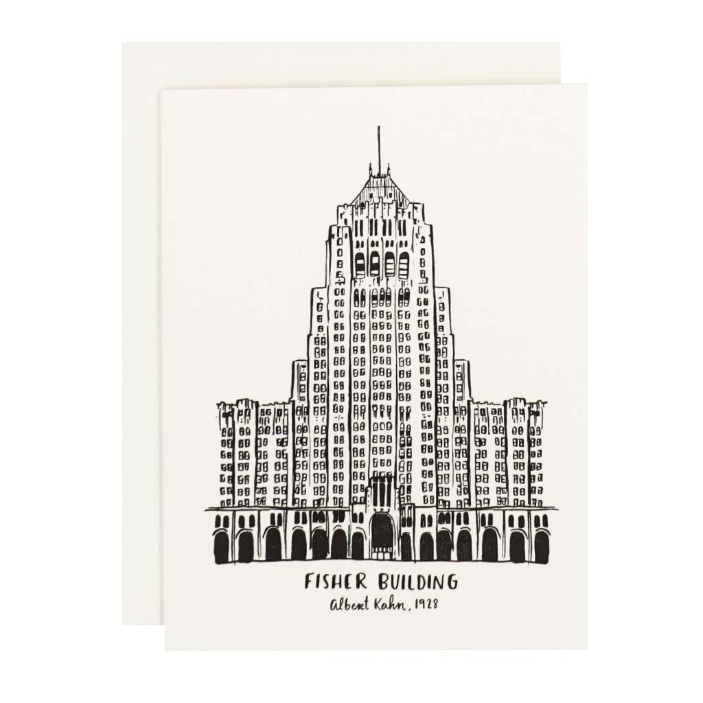 Fisher Building Letterpress Card - City Bird