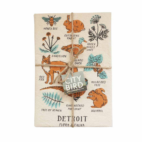 Detroit Flora and Fauna Tea Towel - City Bird