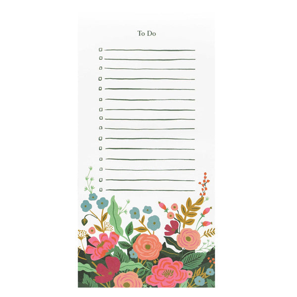 Floral Vines Market Notepad - City Bird
