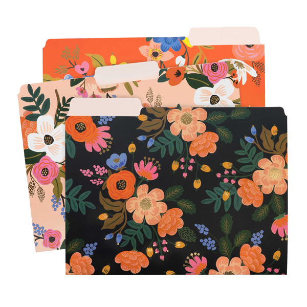 Lively Floral File Folder Set - City Bird