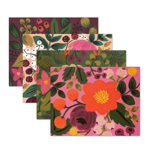 Assorted Vintage Blossoms Card Set - City Bird