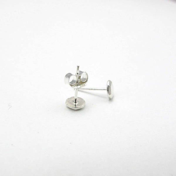 Sterling Silver Circle - Faceted Nugget Studs - City Bird