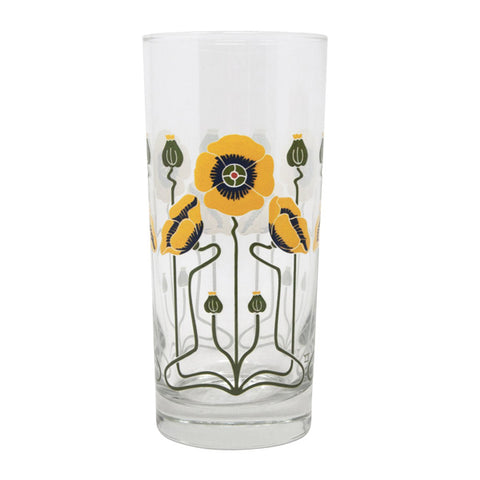 Golden Poppy Collins Glass