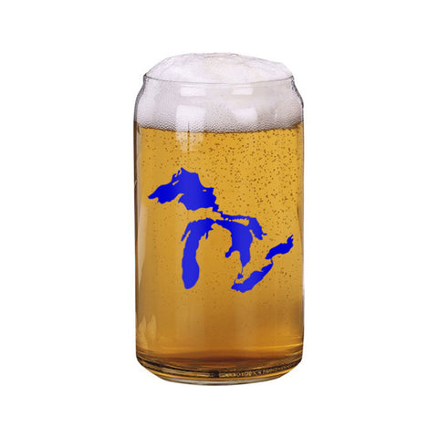 Great Lakes Beer Can Glass