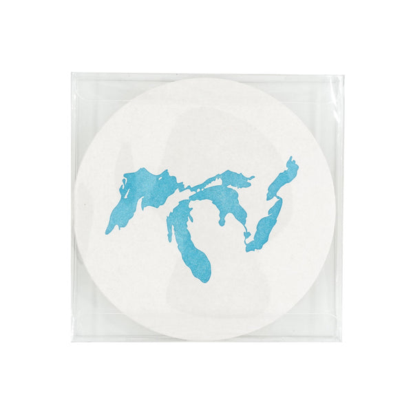 Great Lakes Letterpress Coaster Set