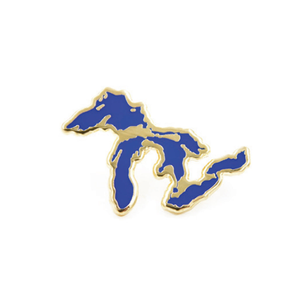 Great Lakes Silhouette Cloisonne Enamel Pin