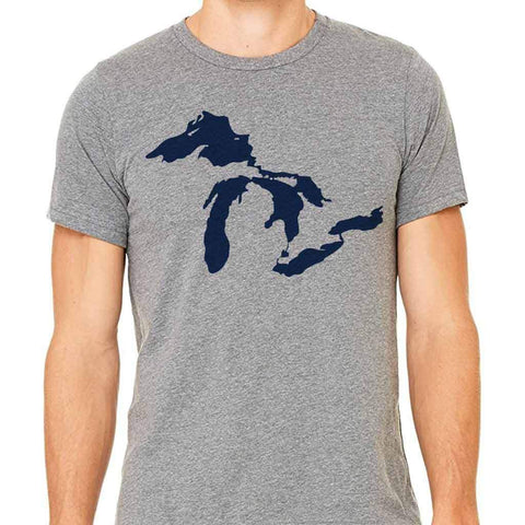 Great Lakes Michigan Adult T-Shirt - City Bird