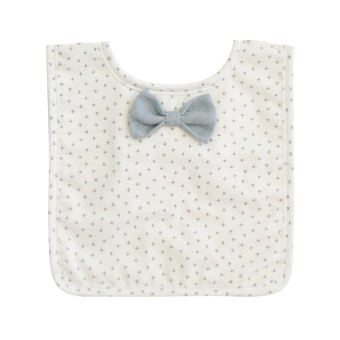 Grey Cross Bow Tie Bib - City Bird