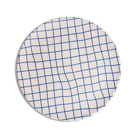 Bamboo Dinner Plate Set - Grid - City Bird