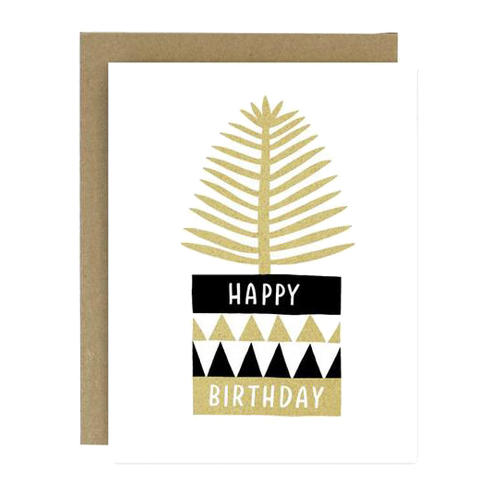 Bday Potted Plant Card - City Bird