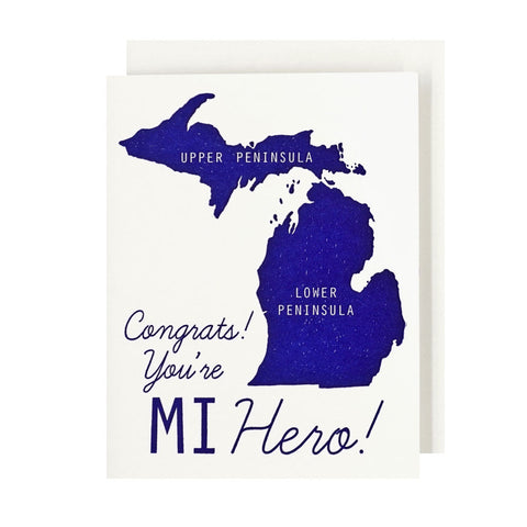 MI Hero Letterpress Card - City Bird