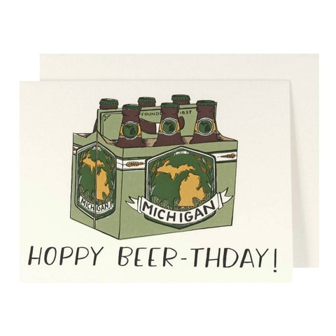 Hoppy Beer-thday! Letterpress Card - City Bird