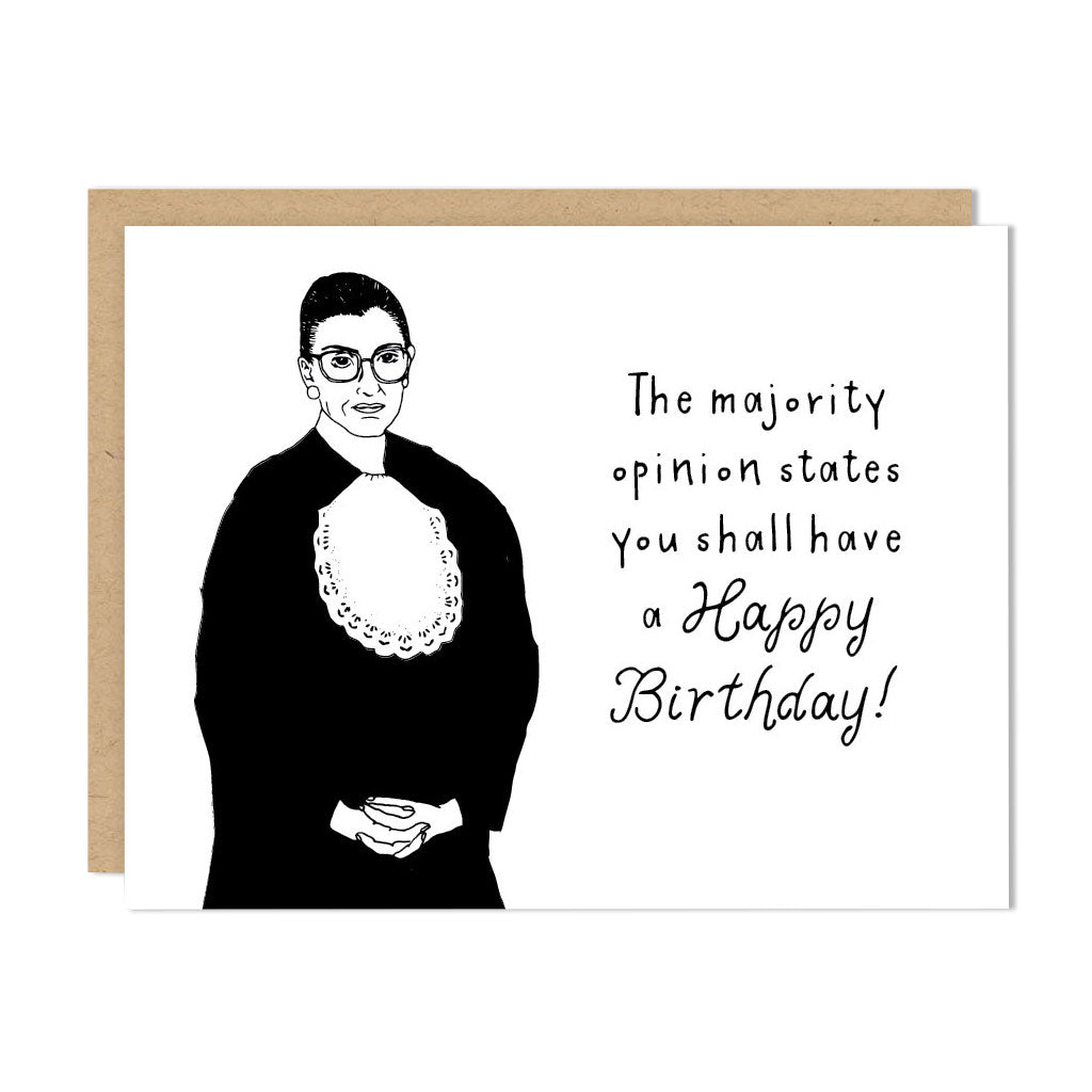 Ruth Bader Ginsburg - Happy Birthday Card - City Bird