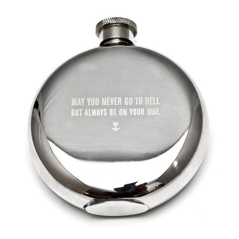 May You Never go to Hell but Always be on Your Way Flask - City Bird