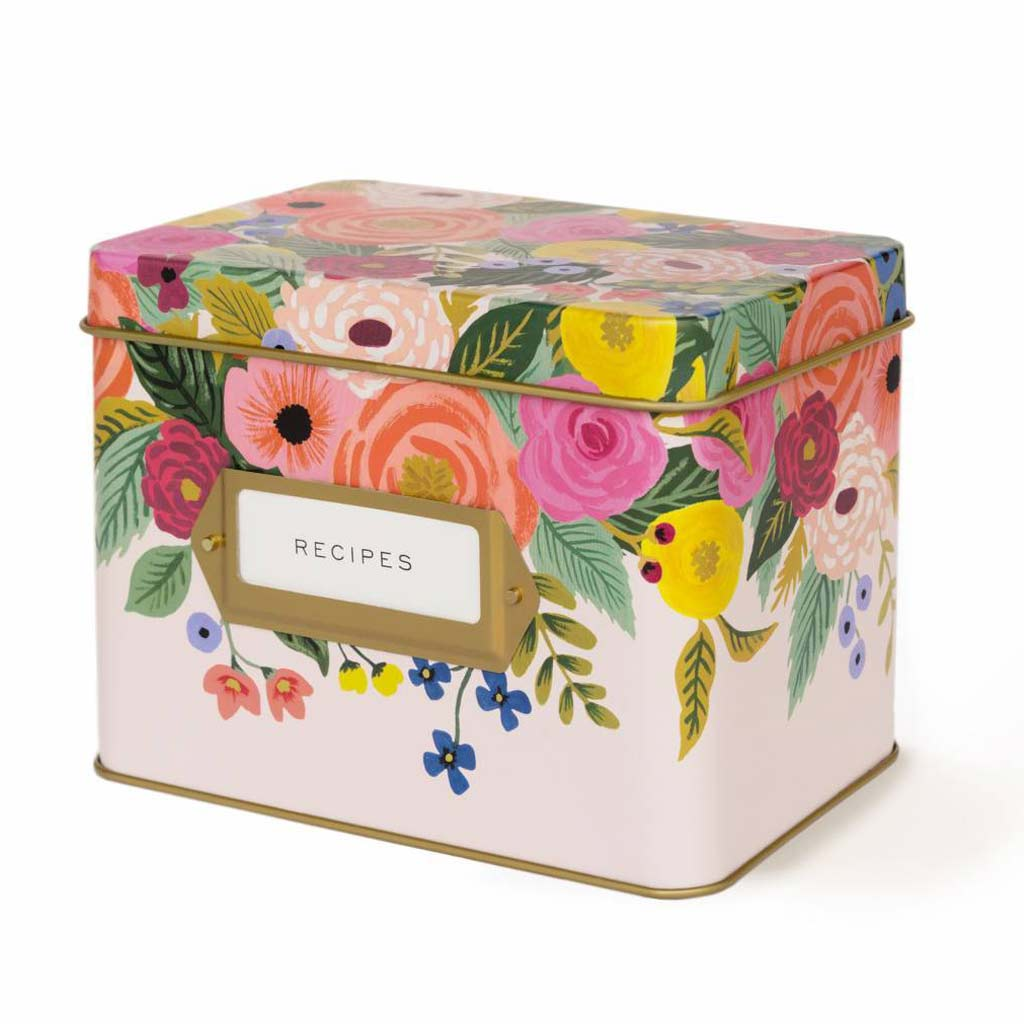 Juliet Rose Recipe Box (w) - City Bird