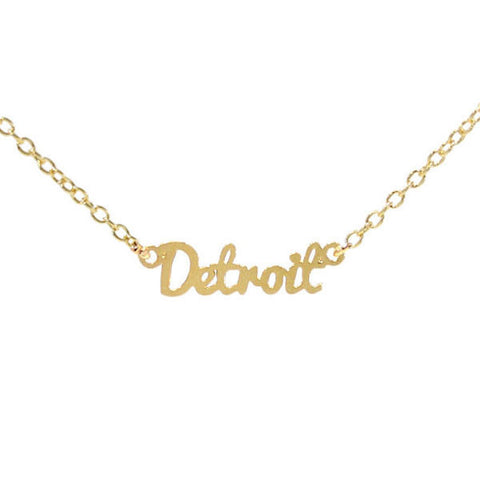 Detroit Necklace Gold - City Bird