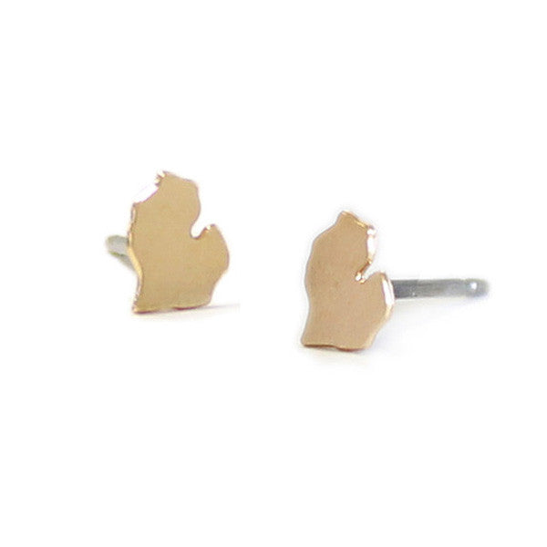 Michigan Charm Studs Gold - City Bird