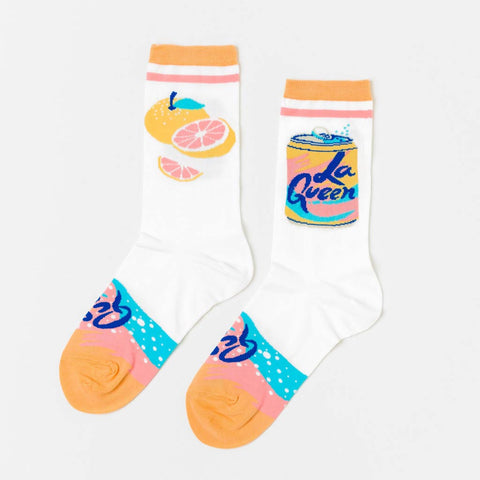 La Queen - Women's Crew Socks - City Bird