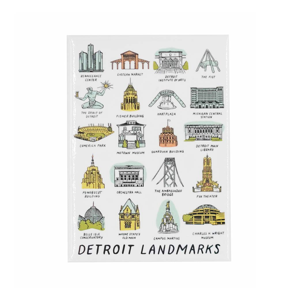 Detroit Landmarks Magnet - City Bird