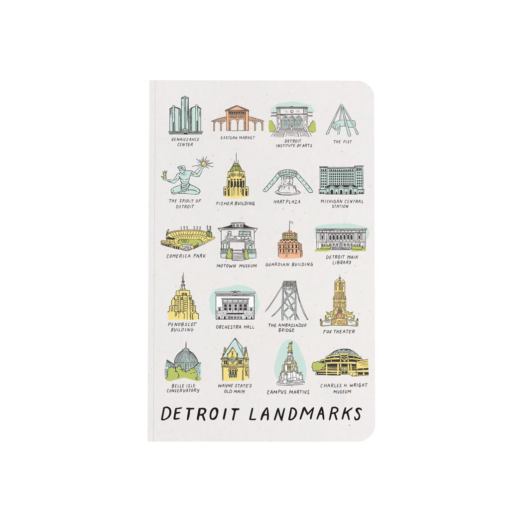 Detroit Landmarks Notebook - City Bird