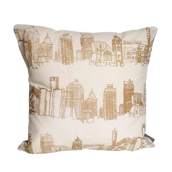 "20"" Detroit Landmarks Throw Pillow"