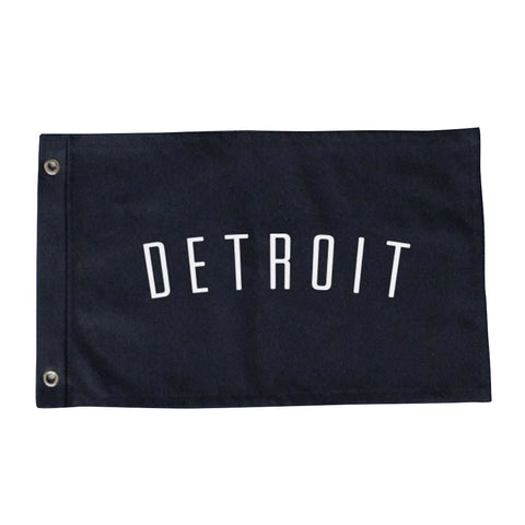 Custom Large Detroit Flag - City Bird