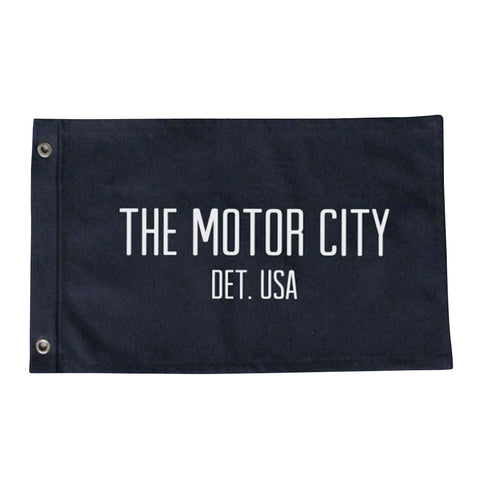 Custom Large Motor City Flag - City Bird