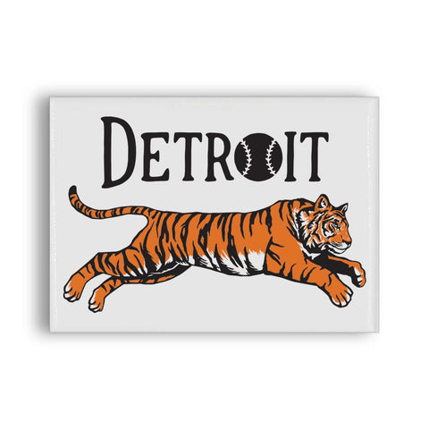 Leaping Tiger Rectangle Magnet - City Bird