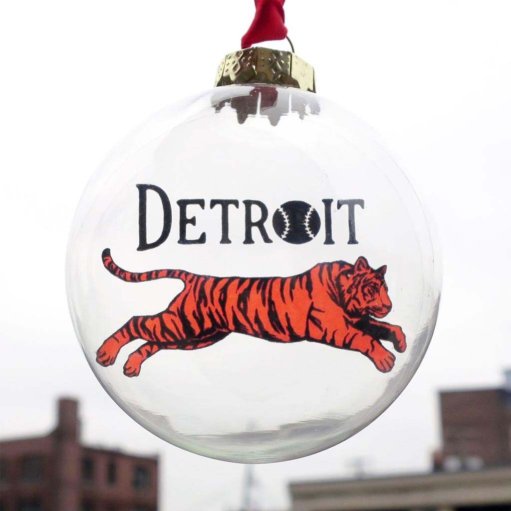 Leaping Tiger Holiday Ornament - City Bird