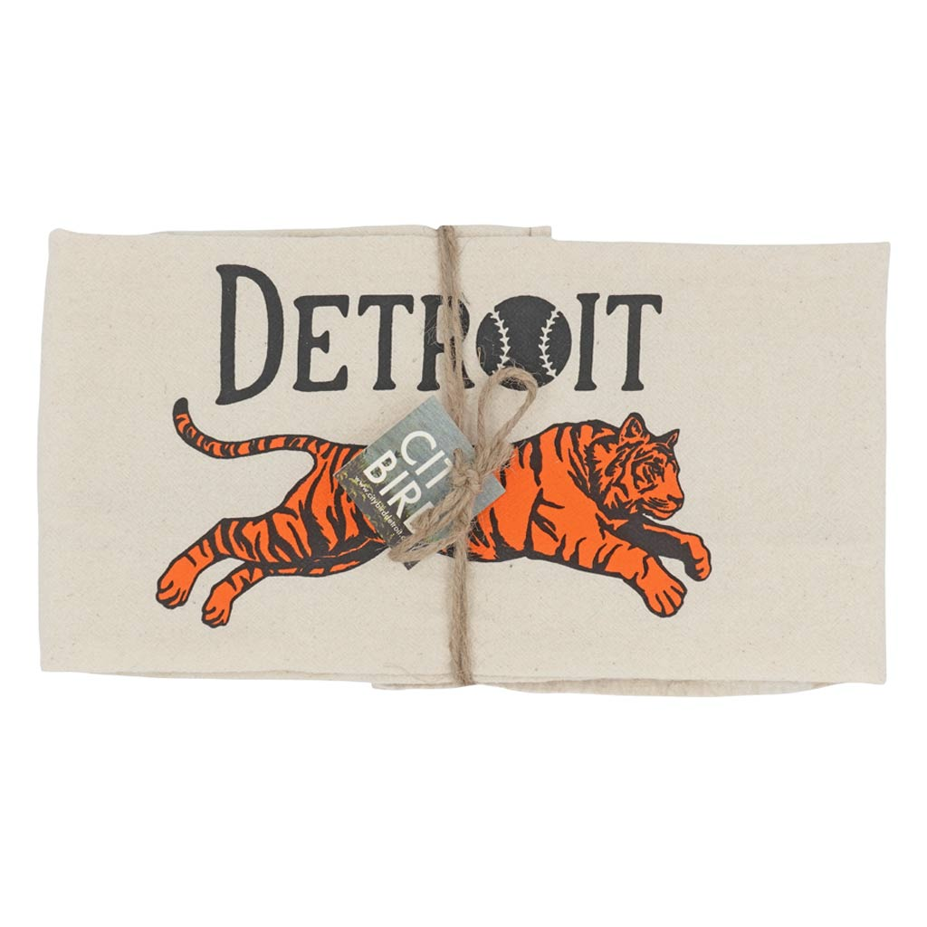 Detroit Tiger Tea Towel - City Bird