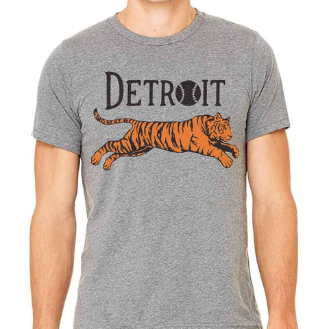 Leaping Tiger Detroit T-Shirt - City Bird