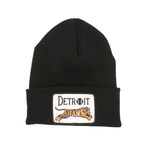Leaping Tiger Patch Knit Cap - City Bird