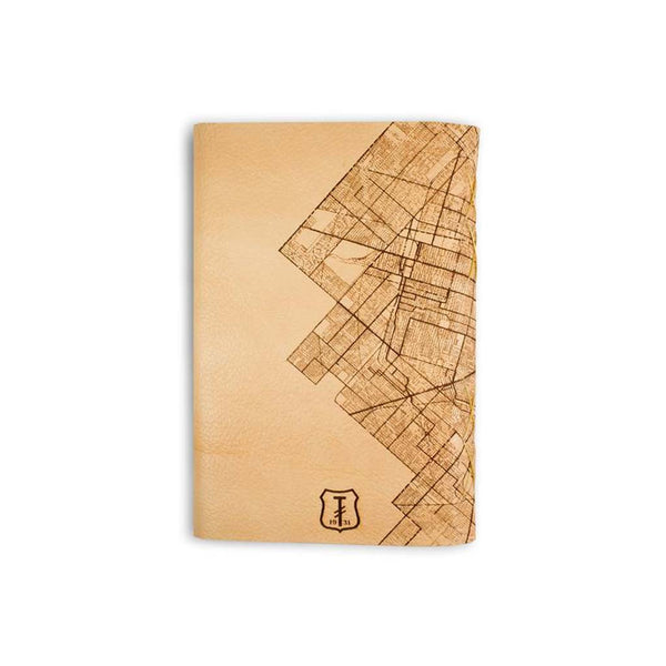 Detroit Map Leather Journal - City Bird