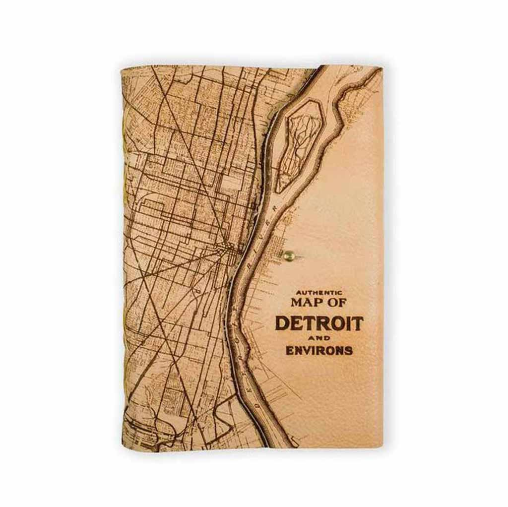 Journal - Detroit Map - Large - Light