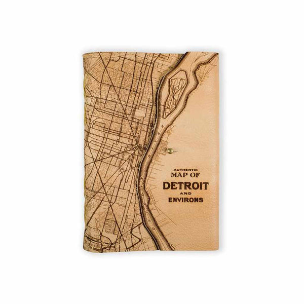 Journal - Detroit Map - Large - Light - City Bird