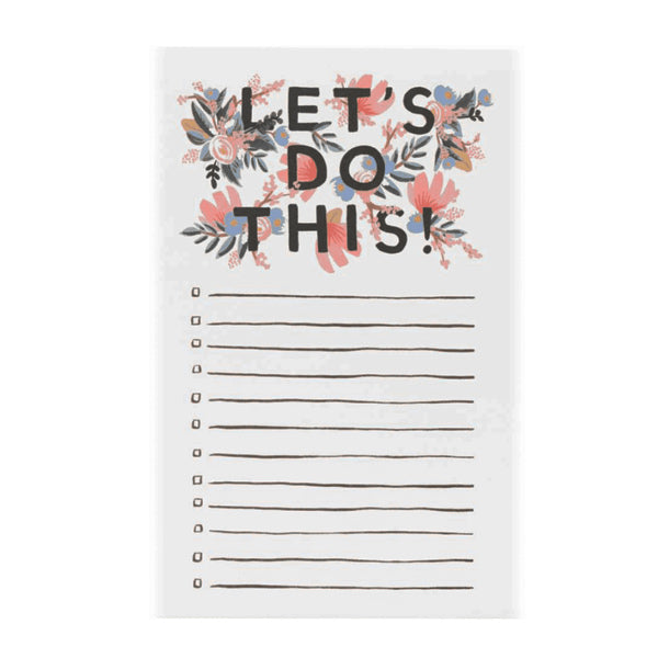 Let's Do This Notepad - City Bird