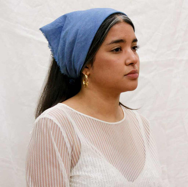 Naturally Dyed Linen Bandanas - City Bird