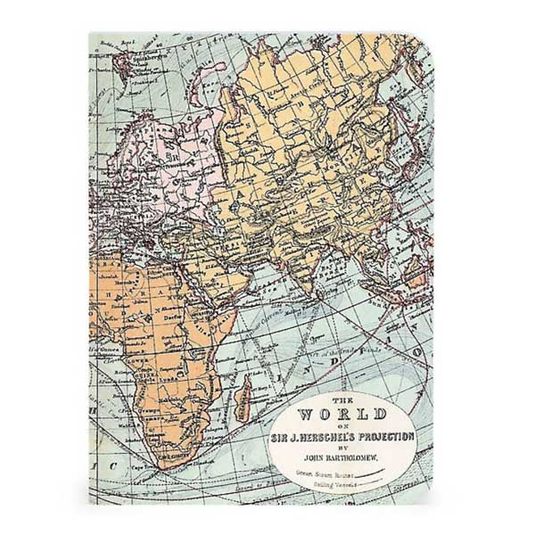 Vintage World Maps - 3 Mini Notebooks - City Bird